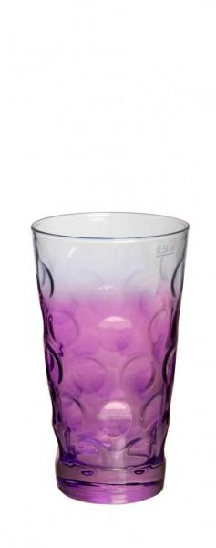 Böckling - Dubbeglas 0,5l Verlauf Lila