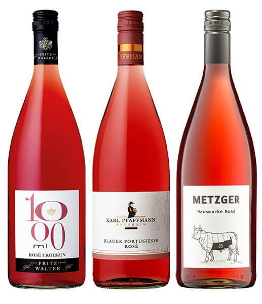 WeinPaket Pfälzer Liter Lieblinge ROSÉ 3x1l