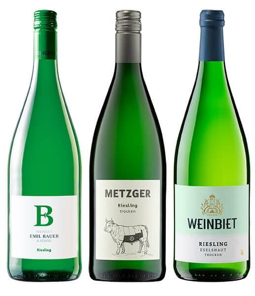 WeinPaket Pfälzer Liter Rieslinge 3x1l
