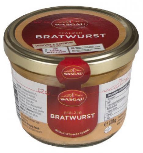 WASGAU - Pfälzer Bratwurst (180g-Glas)
