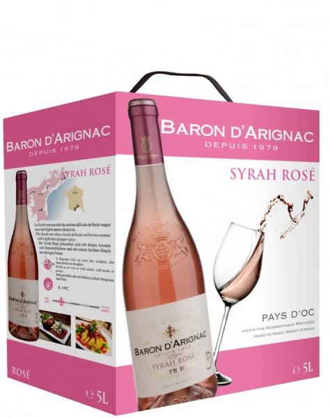 Baron D'Arignac - Syrah Rosé 5 Liter Bag-in-Box