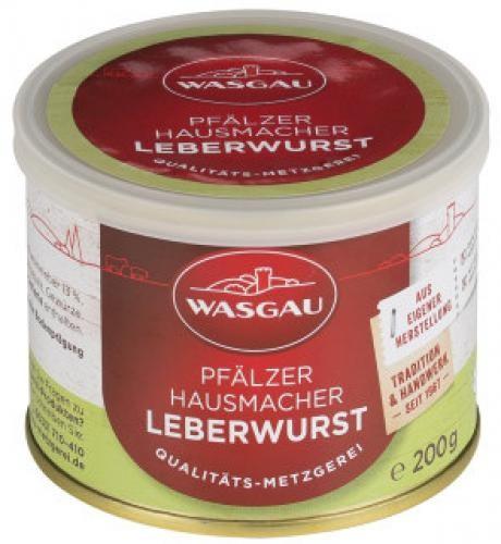 WASGAU - Pfälzer Hausmacher Leberwurst (200g-Dose)